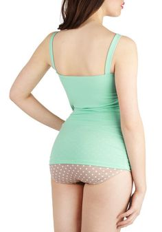 Vintage style bathing suit, love it!  A Hint of Mint One Piece, #ModCloth
