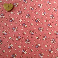 Marcus Brother Fabrics ~  Aunt Grace Miniatures ~ Floral Pink
