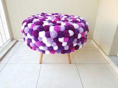Poltrona de pompom de lã