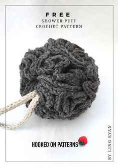 Free Shower Puff Crochet Pattern - Get the step by step tutorial by Ling Ryan at hooked on patterns, here. DIY Crafts home decor ideas to make yourself Crochet Home, Crochet Gifts, Cute Crochet, Knit Crochet, Modern Crochet Patterns, Christmas Crochet Patterns, Crochet Designs, Step By Step Crochet, Crochet Wedding