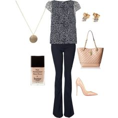 Casual Friday featuring Dorothy Perkins, Witchery, Christian Louboutin, Anne Klein, and jewelry by Naked Metallics