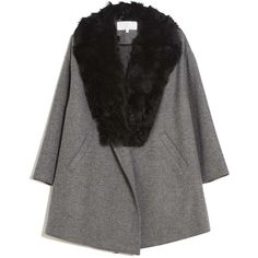 Thakoon Addition Fur Trim Coat (1,690 CAD) ❤ liked on Polyvore
