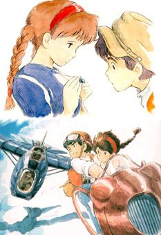 Laputa Castle in the Sky - Nausicaa themes, but it's own unique story. Miyazaki's steampunk love shines.