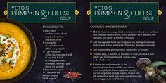 Yeto's Pumpkin & Cheese Soup Recipe