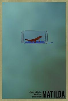 Matilda minimal movie poster- newt in Trunchbulls water
