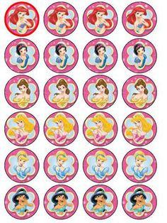 Disney Princess cupcake picks