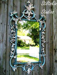 Lovely Shabby Ornate Mirror by Stiltskin Studios