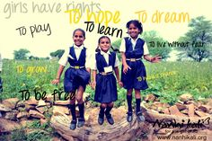Girls have rights! Show your support for girl child education & Nanhi Kali. Visit www.NanhiKali.com & join us on www.facebook.com/...