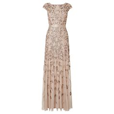 Phase Eight Collection 8 Guliana Beaded Lace Dress Cream £280.00 AT vintagedancer.com