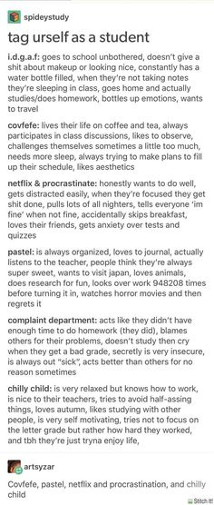 Complaint department and Netflix&Procrastinate Writing Help, Writing Tips, Writing Prompts, Mbti, Back To School Highschool, School Study Tips, Types Of People, Study Inspiration, Studyblr