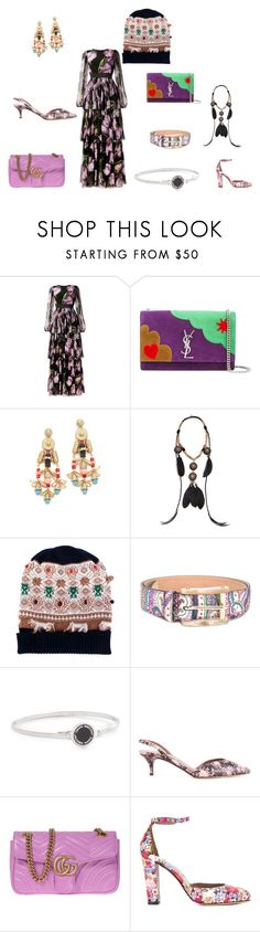 """""""Never seen before????"""" by jamuna-kaalla ❤ liked on Polyvore featuring Dolce&Gabbana, Yves Saint Laurent, Adia Kibur, Deepa Gurnani, Barrie, Etro, Marc Jacobs, Tabitha Simmons, Gucci and vintage"""