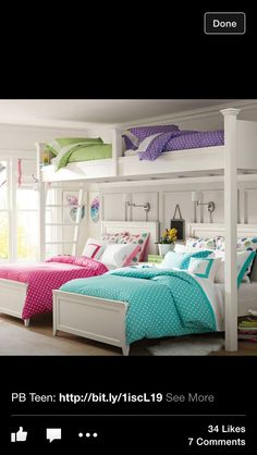 I would love this for my girls in one big room!! - Pottery Barn of course