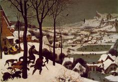 Pieter Bruegel the Elder, Hunters in the Snow, 1565 Things to think about when studying: What elements does Bruegel include that tell you this is a Dutch painting? How does he depict the landscape? Where are the figures in relation to the landscape?