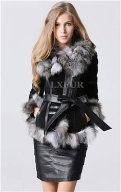 eastern fur 2014 Winter Lady pig Leather Coat Jackets with big Fox Fur collar Outerwear Coats Warm Overcoats Female Fur jacket Pink Fur Coat, Fox Fur Coat, Winter Coats Women, Coats For Women, Fur Fashion, Fashion Outfits, Fur Clothing, Fabulous Furs, Outerwear Women