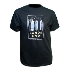 The dramatic scenery of Lands End is captured beautifully by artist Michael Schwab on our 100% Cotton T-Shirt. Show your support for the parks with the perfect keepsake from your trip to San Francisco.  #BacktoSchool #SF #TShirt #KidsClothes #LandsEnd #NationalParks