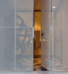 Architecture Design, Facade Design, Gate Design, House Design, Dining Room Inspiration, Interior Inspiration, Door Detail, Steel Doors, Facade House