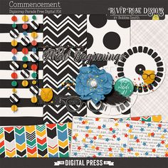 Quality DigiScrap Freebies: Commencement mini kit freebie from River Rose Designs