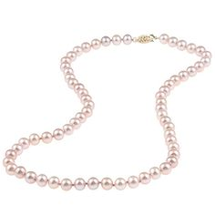 DaVonna 14k 6.5-7mm Freshwater Cultured Pearl Strand Necklace