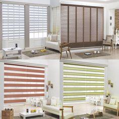 B&C Double Roller blind Zebra shade Home Window blind Custom made to order #BC