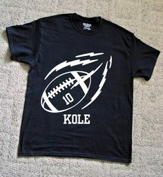 Boys Football T Shirt by CroziGraphics on Etsy