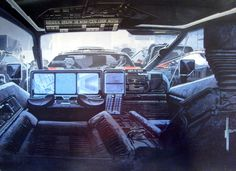 Blade Runner concept art - by Syd Mead. Blade Runner, Diesel Punk, Syd Mead, Star Trek, Spaceship Interior, Sci Fi Environment, Bros, Cyberpunk Art, Cyberpunk 2020