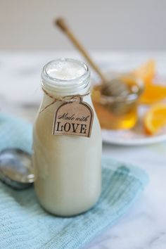 DIY Homemade Milk and Honey Body Wash - Live Simply
