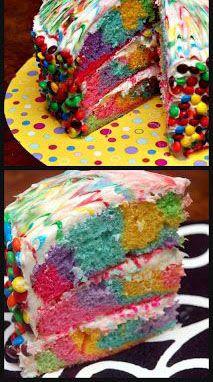 TIE DYE CAKE-WOWIE WOW WOW! Link doesn't work