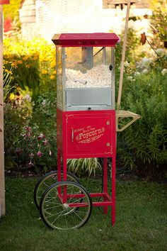 Wedding Carnival Popcorn Booth by yourhomebasedmom, via Flickr