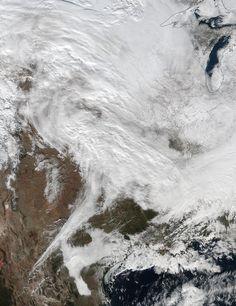 Major Winter Storm Headed For Eastern U.S. #NASA