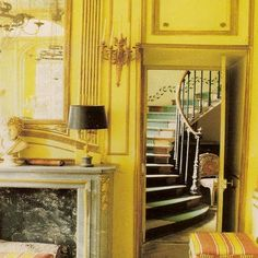 Normandy, France, Chateau de Morsan, built c. 1765. Yellow was a popular color during that period