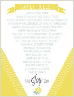 Family Rules Print - {duggar family rules: <3 them!}   I have these on my wall...but this is cuter!