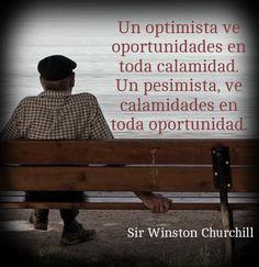 Recuerda siempre ser una persona optimista.