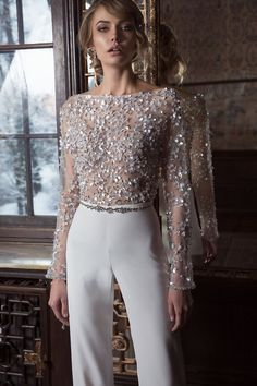 Fashion Elegant Pure Colour Splicing Sequins Jumpsuits Product Fashion Elegant Pure Color Splicing Sequins Overalls Brand Name CHOQUEEN SKU Gender Women Style Fashion / Elegant / Modern Type Overalls Material Polyester Fiber Decoration Pure Color S 8 Sequin Jumpsuit, Sequin Skirt Outfit, Bridal Jumpsuit, Bridal Gowns, Wedding Dresses, 2017 Bridal, Mode Outfits, Party Outfits, Look Fashion