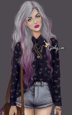 Imagen de girly_m, art, and hair Girly M Instagram, Princesse Disney Swag, Sarra Art, Chica Cool, Illustration Mode, Illustrations, Girl M, Girly Drawings, Girl Sketch