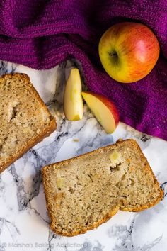 Apple Cinnamon Bread - Incredible moist and delicious cinnamon-spiced bread studded with juicy apple chunks. Perfect with your morning coffee!