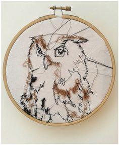 "Embroidery Owl 6"". £ 13.00, via Etsy."