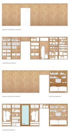 Best Indoor Garden Ideas for 2020 - Modern Architecture Details, Interior Architecture, Casa Kardashian, Plywood Interior, Plywood Walls, Plywood Furniture, Planer Layout, Wardrobe Design, Storage Design