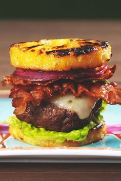Burgers get a tropical makeover. Get the recipe from Delish.