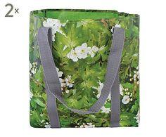 Set di 2 sacche per piantare in tarpaulin grigio e trasparente - 30x30x30 cm