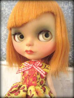 """Custom OOAK Redheaded Blythe Doll """"Tula"""". $475.00, via Etsy."""