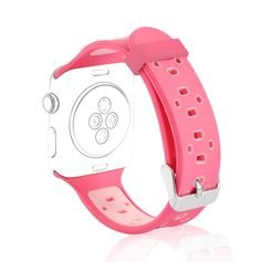 Women 38mm Replacement Strap Wristband Apple Watch Silicone Sport Band Pink New   Jewelry & Watches, Watches, Parts & Accessories, Wristwatch Bands   eBay!