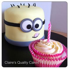 Despicable Me Birthday Cake. www.clairesqualitycakes.co.uk