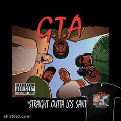 """""""Straight Outta Los Santos"""" by hislla Grand Theft Auto in the style of Straight Outta Compton Grand Theft Auto, Trill Cartoon, Gaming Profile Pictures, Iphone Wallpaper Logo, Gta San Andreas, Kobe Bryant Pictures, Day Of The Shirt, Straight Outta Compton, How To Make Stickers"""