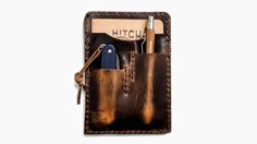 Brown Nut Leather Notebook Caddy 2.0  Horween Leather Field