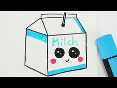 KAWAII MILK DIY | niedliches Milch Getränk zeichnen | How to draw tutorial - YouTube