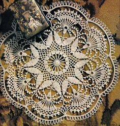 Gorgeous Doily With Gorgeous Color        Link to the Pattern