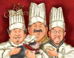 Chefs Say Eat Chicken Mixed Media