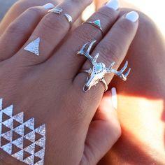 GypsyLovinLight: Midsummer Star Aztec Skull Ring