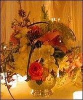 Romantic Table Arrangement<br/>Wedding Reception Flowers