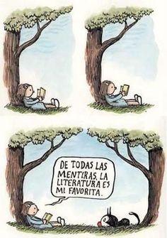 """""""De todas las mentiras, la #literatura es mi favorita"""".  #frases #quotes #libros"""